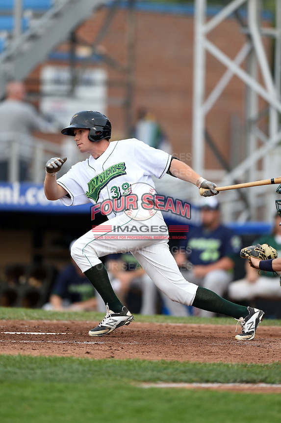 Jamestown Jammers outfielder Jordan Luplow (39) at bat during a game against the Vermont Lake Monsters on July 12, 2014 at Russell Diethrick Park in Jamestown, New York.  Jamestown defeated Vermont 3-2.  (Mike Janes/Four Seam Images)