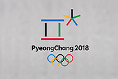 13th December 2017, PyeongChang South Korea; The official Logo for the PyeongChang 2018 South Korean based Winter Olympics is displayed
