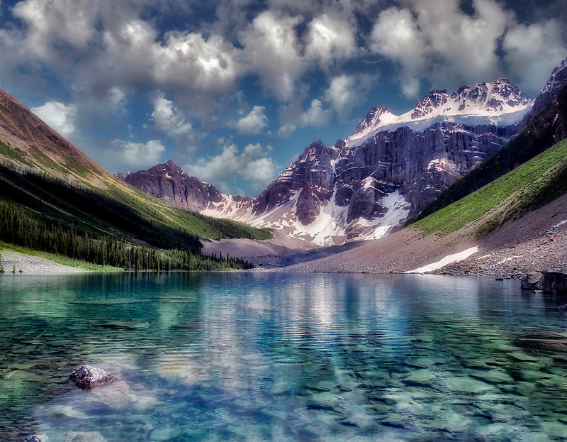 Consolation Lake. Banff National Park, Canada.