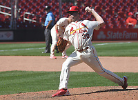 25th July 2020, St Louis, MO, USA;  St. Louis Cardinals relief pitcher Tyler Webb (30) pitches in relief during a Major League Baseball game between the Pittsburgh Pirates and the St. Louis Cardinals