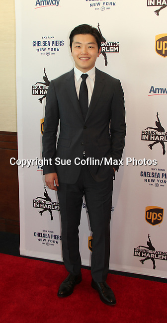 Alex Shibutani (recently represented Team USA in the 2018 Olympics) at Figure Skating in Harlem's Champions in Life (in its 21st year) Benefit Gala recognizing the medal-winning 2018 US Olympic Figure Skating Team on May 1, 2018 at Pier Sixty at Chelsea Piers, New York City, New York. (Photo by Sue Coflin/Max Photo)