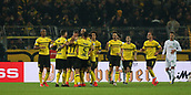 February 5th 2019, Dortmund, Germany, German DFB Cup round of 16, Borussia Dortmund versus SV Werder Bremen;  Celebration for the goal for 1-1 by free kick from Marco REUS, BVB