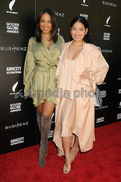 8 January 2016 - West Hollywood, California - Sanaa Lathan, Chloe Flower. 1st Annual Art for Amnesty Pre-Golden Globes Brunch held at Chateau Marmont. Photo Credit: Byron Purvis/AdMedia