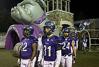 NWA Democrat-Gazette/CHARLIE KAIJO Fayetteville High School football players take to the field during a playoff football game on Friday, November 10, 2017 at Fayetteville High School in Fayetteville.