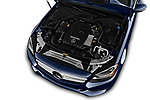 Car stock 2017 Mercedes Benz C Class 300 4 Door Sedan engine high angle detail view