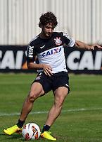 SÃO PAULO,SP, 13 julho 2013 -   Alexandre Pato durante treino do Corinthians no CT Joaquim Grava na zona leste de Sao Paulo, onde o time se prepara  para para enfrenta o Atletico MG pelo campeonato brasileiro . FOTO ALAN MORICI - BRAZIL FOTO PRESS