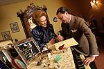 Milano 29/01/2002.Renata Tebaldi con Paolo Isotta.
