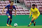 League Santander 2017/2018 - Game: 7.<br /> FC Barcelona vs UD Las Palmas: 3-0.<br /> Denis Suarez vs Pedro Tana.