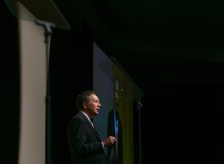 UNITED STATES - JUNE 19- Republican presidential candidate, Ohio Gov. John Kasich speaks during the Faith & Freedom Coalition's Road to Majority conference which featured speeches by conservative politicians at the Washington D.C. Omni Shoreham Hotel, June 19, 2015.(Photo By Al Drago/CQ Roll Call)