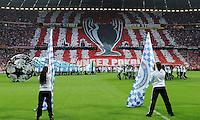 FUSSBALL   SAISON 2011/2012   CHAMPIONS LEAGUE FINALE FC Bayern Muenchen - FC Chelsea  19.05.2012 Fan Choreografie der Bayern Fans mit der Aufschrift: Unsere Stadt, Unser Stadion, Unser Pokal