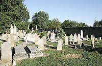 Tombe nel Cimitero Ebraico di Ferrara.<br /> Tombs in the Jewish cemetery in Ferrara.<br /> UPDATE IMAGES PRESS/Riccardo De Luca