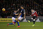 Caolan Lavery of Sheffield Utd takes a shot on goal during the English League One match at Bramall Lane Stadium, Sheffield. Picture date: December 10th, 2016. Pic Simon Bellis/Sportimage