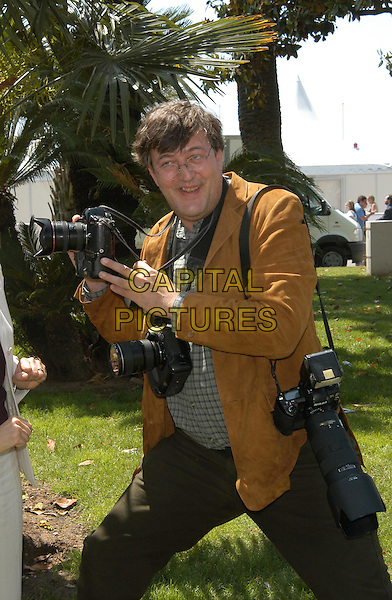 STEPHEN FRY.Opening of the UK Pavillion.Cannes Film Festival 2003.www.capitalpictures.com.sales@capitalpictures.com.©Capital Pictures