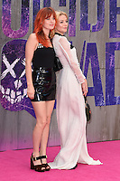 "Georgia May Jagger and Clara Paget<br /> arrives for the ""Suicide Squad"" premiere at the Odeon Leicester Square, London.<br /> <br /> <br /> ©Ash Knotek  D3142  03/08/2016"