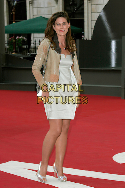 FRANCESCA VERSACE .The Royal Academy of Arts Summer Exhibition 2008 preview party at Royal Academy of Arts in London, England..June 4th, 2008.full length silver shoes dress white brown jacket .CAP/AH.©Adam Houghton/Capital Pictures.