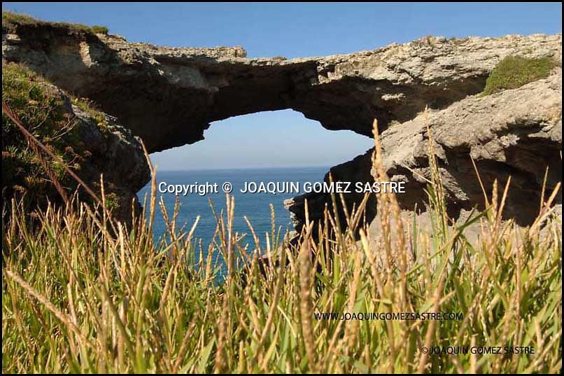 .Vista del llamado PUENTE DEL DIABLO,en la costa de Santander.FOTO JOAQUIN GOMEZ SASTRE ©.