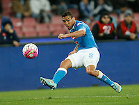 Miguel Allan  during the  italian serie a soccer match,between SSC Napoli and Chievo Verona      at  the San  Paolo   stadium in Naples  Italy , March 06, 2016<br /> Napoli won  3 - 1