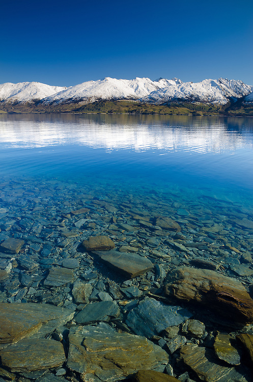 Lake Wanaka, northern end. SH6 South Island, New Zealand