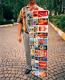 TURKEY, Istanbul, man selling various postcard at street