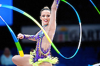 September 10, 2015 - Stuttgart, Germany -  NATALIA GAUDIO of Brazil performs during AA qualifications at 2015 World Championships to eventually win the host country selection to Rio 2016.