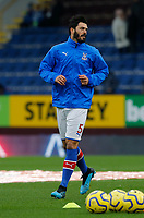 30th November 2019; Turf Moor, Burnley, Lanchashire, England; English Premier League Football, Burnley versus Crystal Palace; James Tomkins of Crystal Palace warms up before the game - Strictly Editorial Use Only. No use with unauthorized audio, video, data, fixture lists, club/league logos or 'live' services. Online in-match use limited to 120 images, no video emulation. No use in betting, games or single club/league/player publications