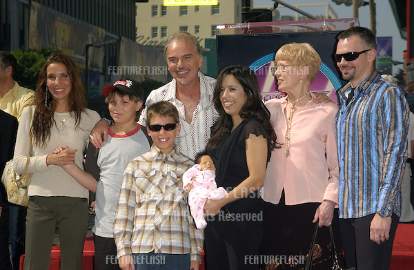 Actor BILLY BOB THORNTON & girlfriend CONNIE ANGLAND (in black) with their two-week-old daughter BELLA & his ex-wife PIETRA DAWN CHERNIAK (left) & their sons WILLIAM & HARRY JAMES & his mother VIRGINIA (right) & brother JOHN DAVID (far right) at ceremony on Hollywood Boulevard where he was honored with the 2,265th star on the Hollywood Walk of Fame..October 7, 2004