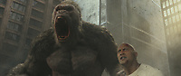 Rampage (2018)   <br /> JASON LILES as George and DWAYNE JOHNSON as Davis Okoye<br /> *Filmstill - Editorial Use Only*<br /> CAP/MFS<br /> Image supplied by Capital Pictures