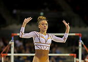 17th March 2019, M&S Arena, Liverpool, England; Gymnastics British Championships day 4; FENTON Georgia-Mae, East London Gym Club  acknowledges the crowd after winning the Women's Artistic Senior Beam Final