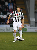 Paul Dummett in the St Mirren v Aberdeen Clydesdale Bank Scottish Premier League match played at St Mirren Park, Paisley on 9.11.12.