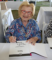 EAST HAMPTON, NY - August 10: Dr. Ruth Westheimer  at the East Hampton Library Authors night on August 10, 2019 in East Hampton, NY. <br /> CAP/MPI98<br /> ©MPI98/Capital Pictures