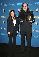 BEVERLY HILLS, CA - FEBRUARY 3: Pamela Adlon and Glenn Weiss in the press room at the 70th Annual DGA Awards at The Beverly Hilton Hotel in Beverly Hills, California on February 3, 2018. <br /> CAP/MPI/FS<br /> &copy;FS/MPI/Capital Pictures