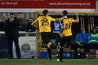 Simon Walton celebrates scoring Maidstone's opening goal during Maidstone United vs Wrexham, Vanarama National League Football at the Gallagher Stadium on 17th November 2018