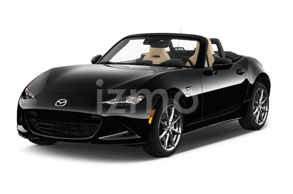 2016 Mazda MX-5 Miata Grand Touring 2 Door Convertible Angular Front stock photos of front three quarter view