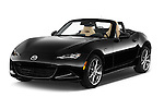 2017 Mazda MX-5 Miata Grand Touring 2 Door Convertible Angular Front stock photos of front three quarter view