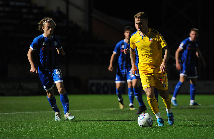 Bolton Wanderers' Thibaud Verlinden<br /> <br /> Photographer Kevin Barnes/CameraSport<br /> <br /> EFL Leasing.com Trophy - Northern Section - Group F - Rochdale v Bolton Wanderers - Tuesday 1st October 2019  - University of Bolton Stadium - Bolton<br />  <br /> World Copyright © 2018 CameraSport. All rights reserved. 43 Linden Ave. Countesthorpe. Leicester. England. LE8 5PG - Tel: +44 (0) 116 277 4147 - admin@camerasport.com - www.camerasport.com