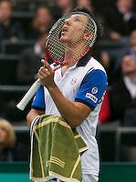 11-02-14, Netherlands,Rotterdam,Ahoy, ABNAMROWTT,Igor Sijsling(NED) <br /> Photo:Tennisimages/Henk Koster