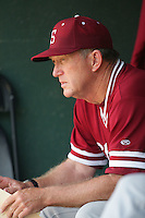 April 3 2010: Mark Marquess, head coach of the Stanford Cardinal, before game against the UCLA Bruins at UCLA in Los Angeles,CA.  Photo by Larry Goren/Four Seam Images