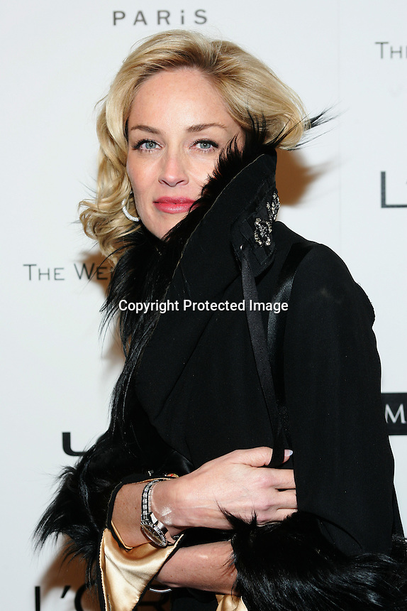 1/15/07,Beverly Hills,California --- Actress Sharon Stone  arrives at the Weinstein Company 2007 Golden Globe Awards after party held at Trader Vic's.  --- Chris Farina