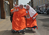 24/04/2010  Peterborough away. Fans pre match......© Phill Heywood.