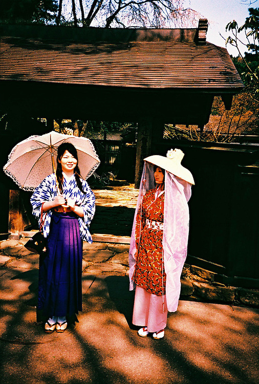 Japanese girls in Kimono in Kakunodate, Akita.