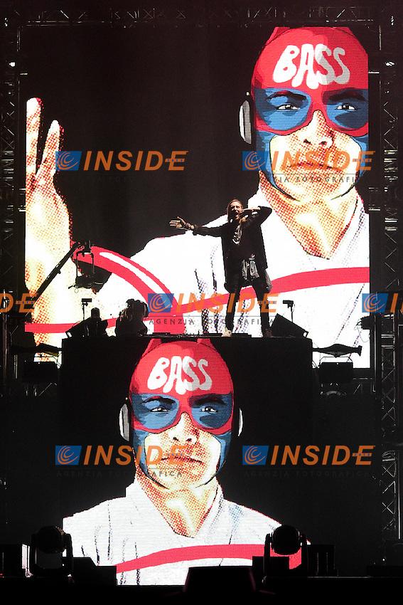 Concert de David Guetta <br /> Parigi 09-06-2016 Champ de Mars <br /> Concerto apertura Campionati di Calcio Francia Euro 2016 <br /> Foto Panoramic / Insidefoto
