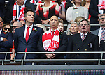 Arsenal chief executive Ivan Gazidis (c) during the Emirates FA Cup Final match at Wembley Stadium, London. Picture date: May 27th, 2017.Picture credit should read: David Klein/Sportimage