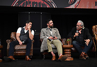 """HOLLYWOOD - MAY 29: JD Pardo, Clayton Cardenas, and Edward James Olmos attend the FYC event for FX's """"Mayans M.C."""" at Neuehouse Hollywood on May 29, 2019 in Hollywood, California. (Photo by Frank Micelotta/FX/PictureGroup)"""