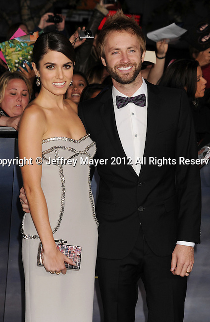 LOS ANGELES, CA - NOVEMBER 12: Nikki Reed and Paul McDonald  arrive at 'The Twilight Saga: Breaking Dawn - Part 2' Los Angeles premiere at Nokia Theatre L.A. Live on November 12, 2012 in Los Angeles, California.