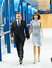 Conservative Party Conference, ICC, Birmingham, Great Britain <br /> 1st October 2014<br /> <br /> Rt Hon David Cameron MP The Prime Minister<br /> Leader of the Conservatives <br /> <br /> wit his wife Samantha Cameron arriving ahead of his leaders' speech. <br /> <br /> <br /> <br /> <br /> Photograph by Elliott Franks <br /> Image licensed to Elliott Franks Photography Services