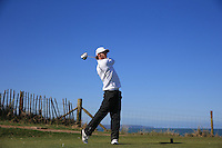Lewis Pearce during Round Two of the West of England Championship 2016, at Royal North Devon Golf Club, Westward Ho!, Devon  23/04/2016. Picture: Golffile | David Lloyd<br /> <br /> All photos usage must carry mandatory copyright credit (&copy; Golffile | David Lloyd)