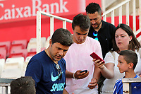 Tottenham manager Mauricio Pochettino poses with Girona fans before Girona FC vs Tottenham Hotspur, Friendly Match Football at Estadi Montilivi on 4th August 2018