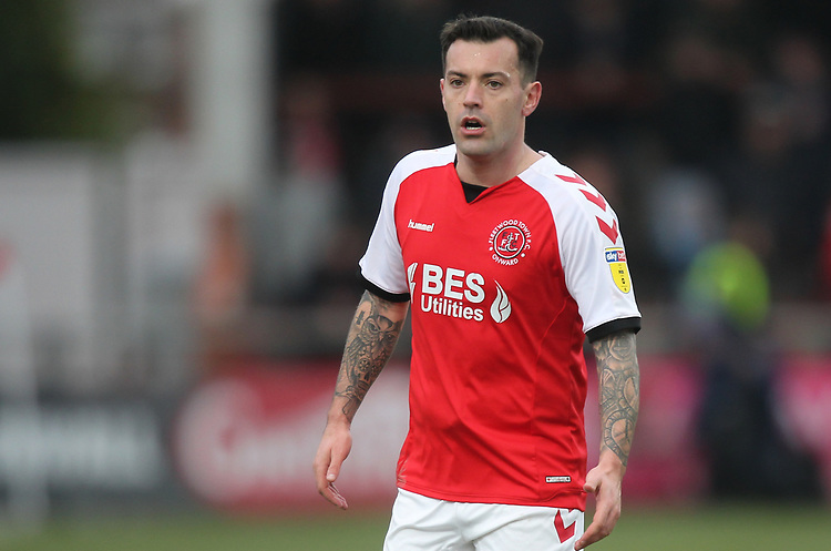 Fleetwood Town's Ross Wallace<br /> <br /> Photographer Mick Walker/CameraSport<br /> <br /> The EFL Sky Bet League One - Fleetwood Town v Luton Town - Saturday 16th February 2019 - Highbury Stadium - Fleetwood<br /> <br /> World Copyright © 2019 CameraSport. All rights reserved. 43 Linden Ave. Countesthorpe. Leicester. England. LE8 5PG - Tel: +44 (0) 116 277 4147 - admin@camerasport.com - www.camerasport.com