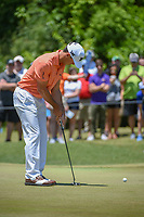 Billy Horschel (USA) sinks his birdie putt on 1 during Round 4 of the Zurich Classic of New Orl, TPC Louisiana, Avondale, Louisiana, USA. 4/29/2018.<br /> Picture: Golffile | Ken Murray<br /> <br /> <br /> All photo usage must carry mandatory copyright credit (&copy; Golffile | Ken Murray)