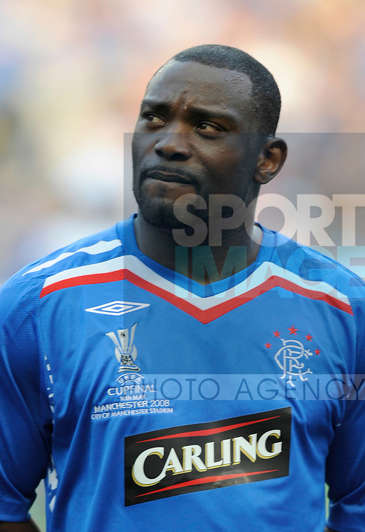 Jean-Claude Darcheville of Rangers during the Europa League Final match at The Etihad Stadium, Manchester. Picture date 14th May 2008. Picture credit should read: Simon Bellis/Sportimage